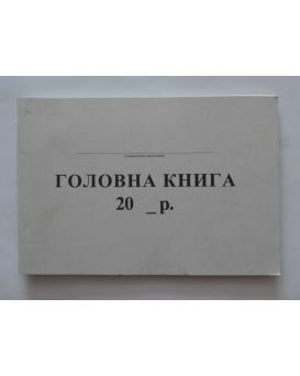 Главная книга А4,офс.,96л.(небюдж.)