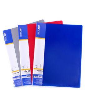 E31221 Папка-скоросшиватель пластик А5 CLIP с внешн.карманом