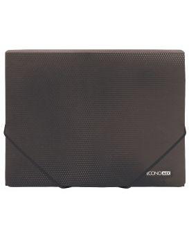 E31601 Папка пластиковая для документов на резинках, А4,ассорти