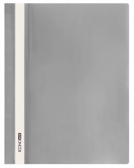 E31511-10 Папка-скоросшиватель с прозрачным верхом серый (глянец