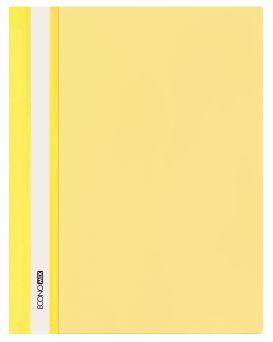 E31511-05 Папка-скоросшиватель с прозрачным верхом желтый (глянец