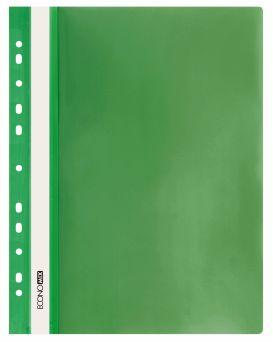 E31510-04 Папка-скоросшиватель с прозрачным верхом зеленый (глянец