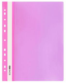 E31510-09 Папка-скоросшиватель с прозрачным верхом розовые (глянец