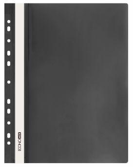 E31510-01 Папка-скоросшиватель с прозрачным верхом черный (глянец