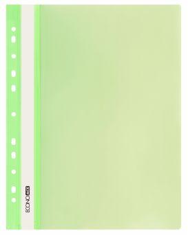 E31510-13 Папка-скоросшиватель с прозрачным верхом салатовая (глянец