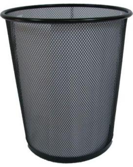Корзина канц.,металлическая,большая черная круглая PS010/Z015 (24*29,5*33,5 см) 5001-B