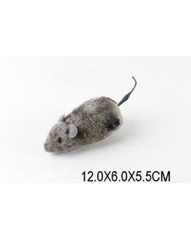 Заводные животные 568-22 мышка, 12*6*5,5 см
