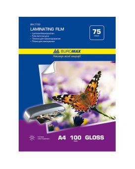 Пленка для ламинирования 75мкм, A4 (216х303мм), 100 шт.