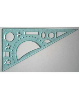 Треугольник 20см 60*90*30 трафарет геометрических фигур