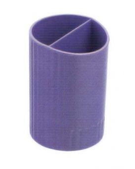 /Стакан для ручек круглый на два отделения, фиолетовый