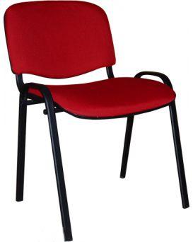 Стул на раме ISO BLACK V-27 к/з (красный)