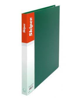 Папка пластиковая А5 с прижимом SK-11-A5 зеленая
