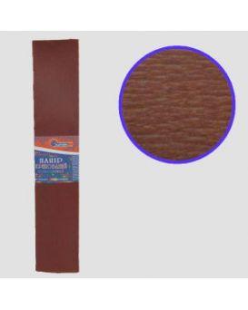 KR55-8043 Креп-бумага 55%, коричневый 50*200см, 20г/м2