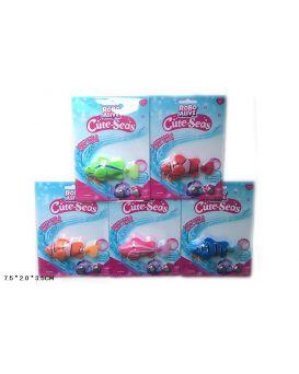 Водоплавающие игрушки 8823A-1 робо-рыбка, на планшетке 7,5*2*3,5 см