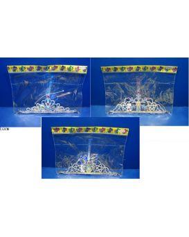 Аксессуары для девочек 4838-7A/5A/6A в ассортименте корона, светятся кисточки, в пакете 32см