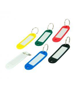 Брелок-идентификатор пластиковый для ключей, ассорти