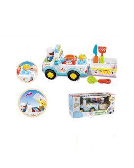 Игрушка музыкальная «Машина - кухня» на батарейке, свет, звук, в коробке