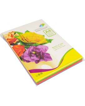 Бумага цветная А4 100 листов, 80 гр/м2, интенсив, 5х20, IT 82