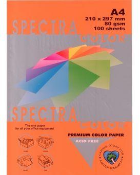 Бумага цветная А4 100 листов, 80 гр/м2, интенсив - оранжевый «Saffron 240» SPECTRA COLOR