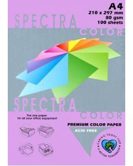 Бумага цветная А4 100 листов, 80 гр/м2, интенсив - фиолетовый «Taro 274» SPECTRA COLOR