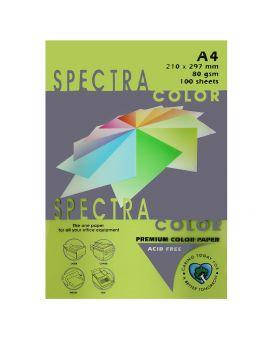 Бумага цветная А4 100 листов, 80 гр/м2, неон - зеленый «Green 321» SPECTRA COLOR CYBER HP