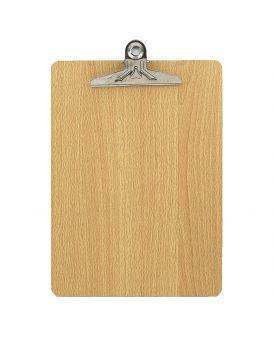 Планшет А4, деревянный с металлическим притиском «Дерево»