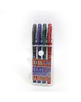 Набор гелевых ручек 4 цвета, цветной корпус, J. Otten, IMG2398