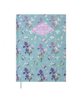 Ежедневник датированный 2022 год, А5 «BLOSSOM» голубой