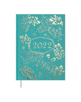 Ежедневник датированный 2022 год, А5 «RICH» бирюзовый