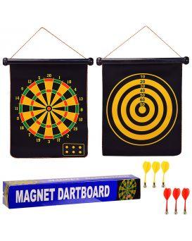 Дартс магнитный, тканевый 41,5х46 см с 6 дротиками, в коробке 43х7х7 см