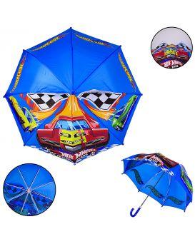 Зонт детский «Hot Wheels» длина трости 59 см, диаметр 70 см, полиэстер