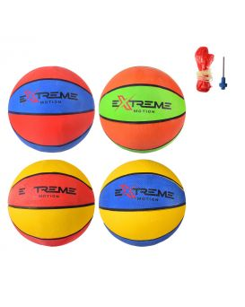 Мяч баскетбольный, размер №7, резиновый, 520 гр., в ассортименте