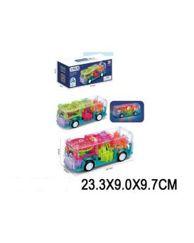 Игрушка музыкальная «Автобус» на батарейке, свет, зук, в коробке 23,3х9х9,7 см