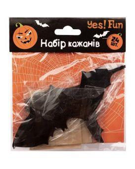 Набор «Fun Хэллоуин летучие мыши 3D» 16 шт., черные, ТМ Yes