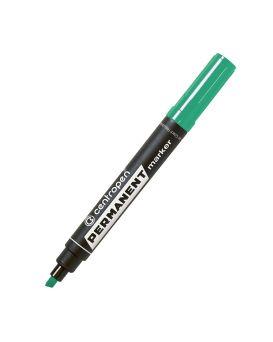Маркер 2,5 мм перманентный, скошенный, зеленый, 10, Centropen