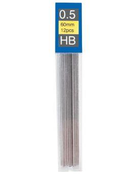 E10801 Стержни к механ. карандаша НВ 12 шт. в прозор. пласт. пенале (24 пен.)