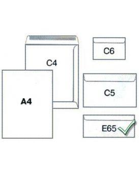 Конверт белый с клейким слоем 110 х 220 см, DL (E65)