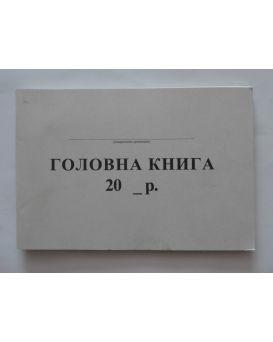 Главная книга небюджетного учреждения А4 96 л., офсетная бумага