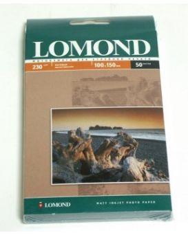 Бумага Lomond, матовая, 230 гр/м, 10 х 15,1 стр., 50 л. (0102034)