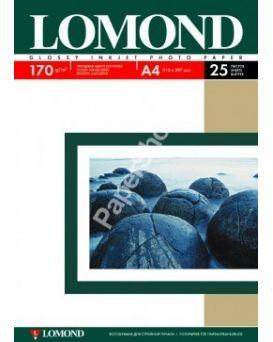 Бумага Lomond,глянец,170гр/м,А4,1 стр,25 арк.,(0102143)