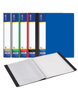 Папка пластиковая А4 с 20 файлами Economix, в ассортименте