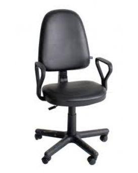 Кресло поворотное «Престиж» кожзам, черный, Новый Стиль