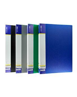 Папка пластиковая А4 с 60 файлами Economix, в ассортименте