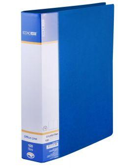 Папка пластиковая А4 с 80 файлами Economix, в индивидуальном боксе