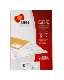 Самоклеящиеся Этикетки «Uni Labels» А4 12 шт. на листе 70 х 67,7 мм