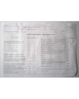 Табель учета рабочего времени А3 1 1 офсетная бумага