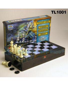 Шахматы «3 в 1» шашки, нарды, в коробке 32х18 см