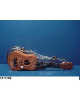Гитара с ремешком, в чехле 54х18 см