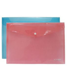 Папка - конверт А4 прозрачная на кнопке