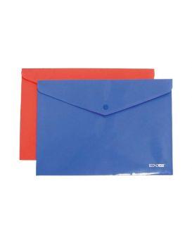 Папка - конверт А4 непрозрачная на кнопке, в ассортименте, Economix